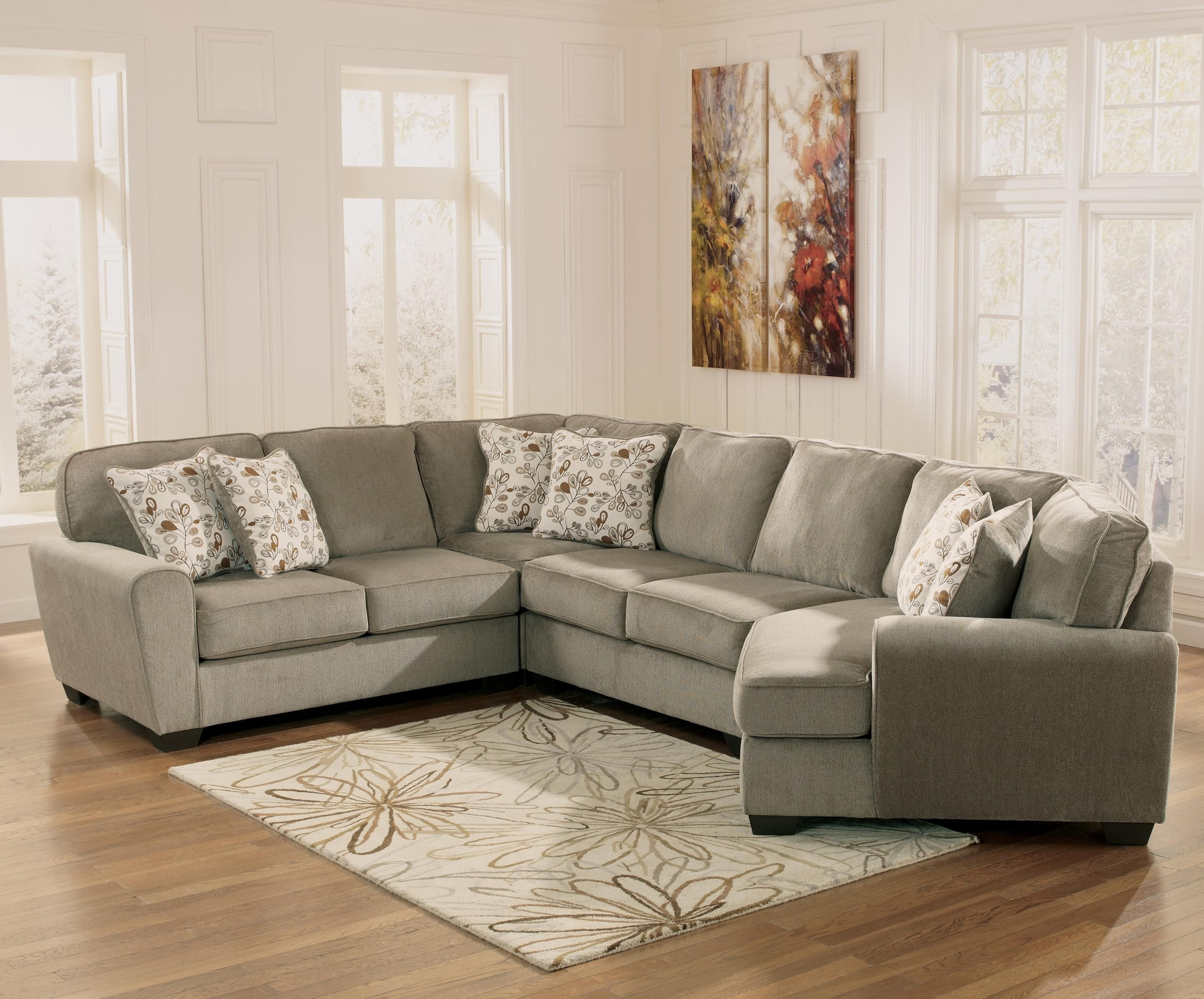 Patola Park – Patina 4 Piece Small Sectional With Right Cuddler In Newmarket Ontario Sectional Sofas (Image 7 of 10)
