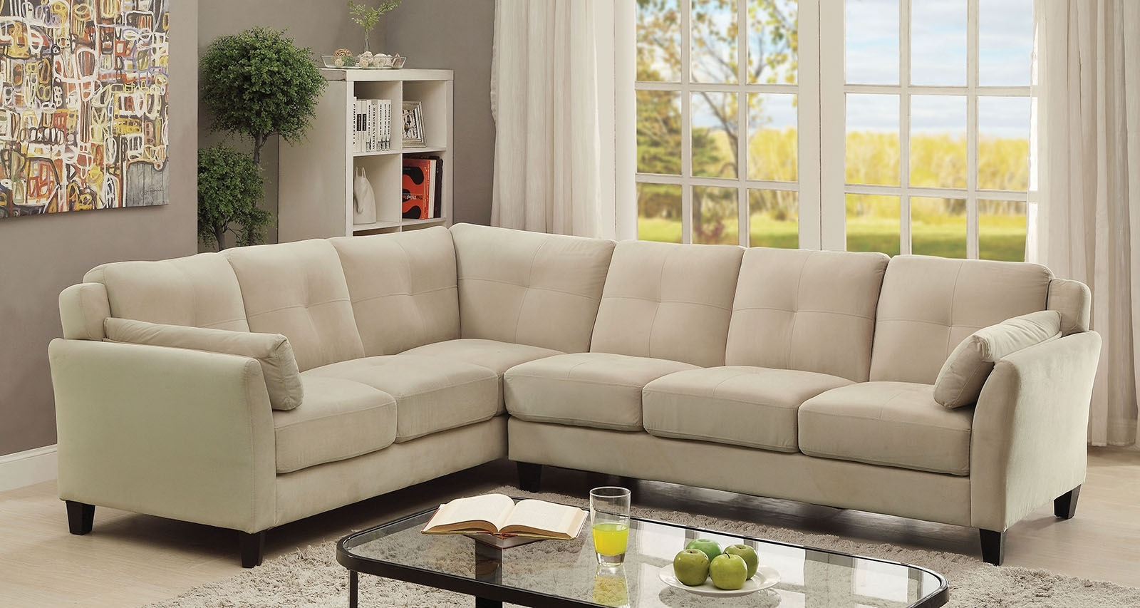 Peever Ii Beige Sectional | Andrew's Furniture And Mattress Inside Beige Sectional Sofas (Image 9 of 10)