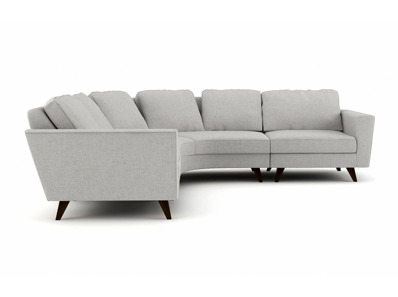 Pel Rounded Corner Sectional – Stem Throughout Rounded Corner Sectional Sofas (View 2 of 10)