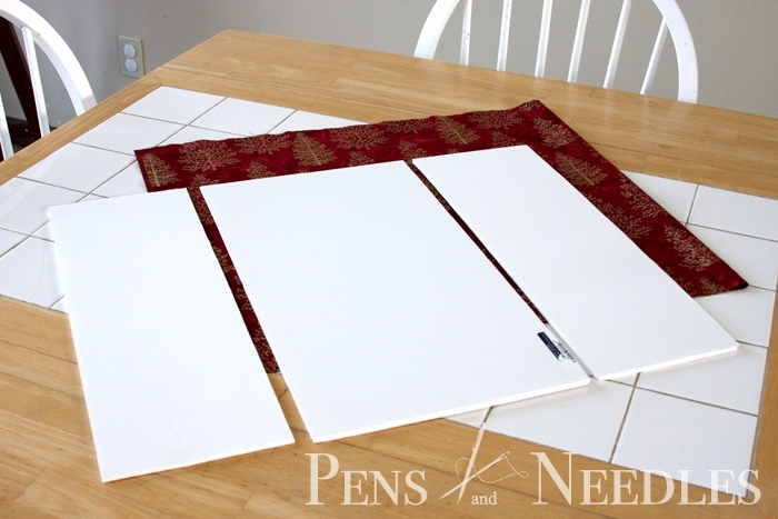 Pens And Needles: Diy Christmas Wall Art With Regard To Foam Board Fabric Wall Art (Image 11 of 15)