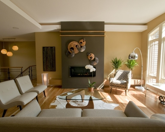 Perfect Living Room Earth Tones Using White Couch And Glass Coffee For Earth Tones Wall Accents (Image 14 of 15)