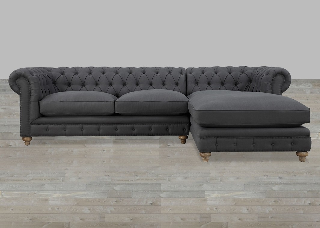 Perfect Tufted Sectional Sofa With Chaise 48 On Sofa Table Ideas Within Tufted Sectional Sofas With Chaise (View 2 of 10)
