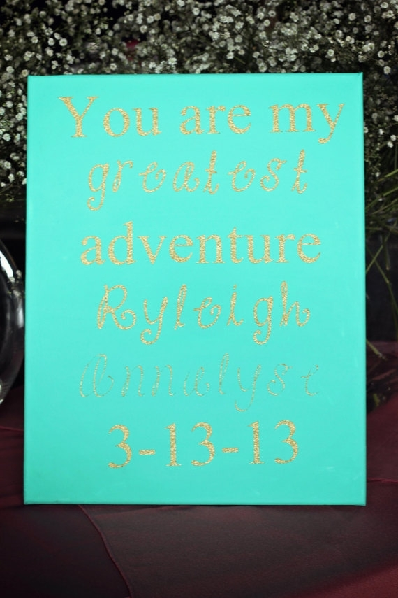 Personalized Canvas / Quotes On Canvas / Custom Canvas Quote / Regarding Custom Quote Canvas Wall Art (View 11 of 15)