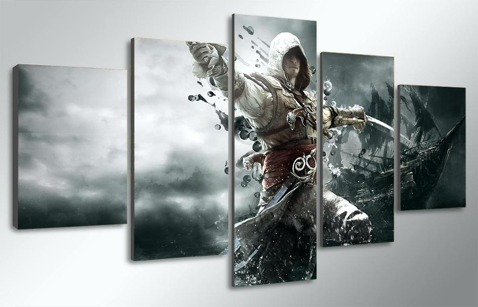 Personalized Canvas Wall Art Wall Art Exciting Video Game Canvas Inside Canvas Wall Art In Canada (View 13 of 15)