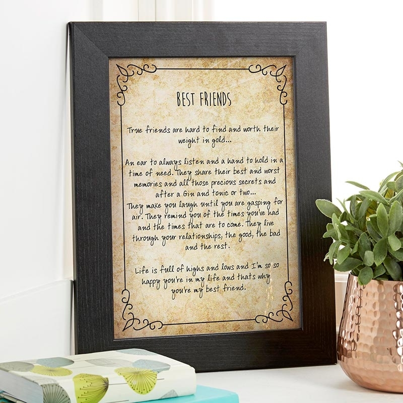 Personalized Typographic Art Gifts For Christmas | Prints & Canvases Within Christmas Framed Art Prints (View 9 of 15)