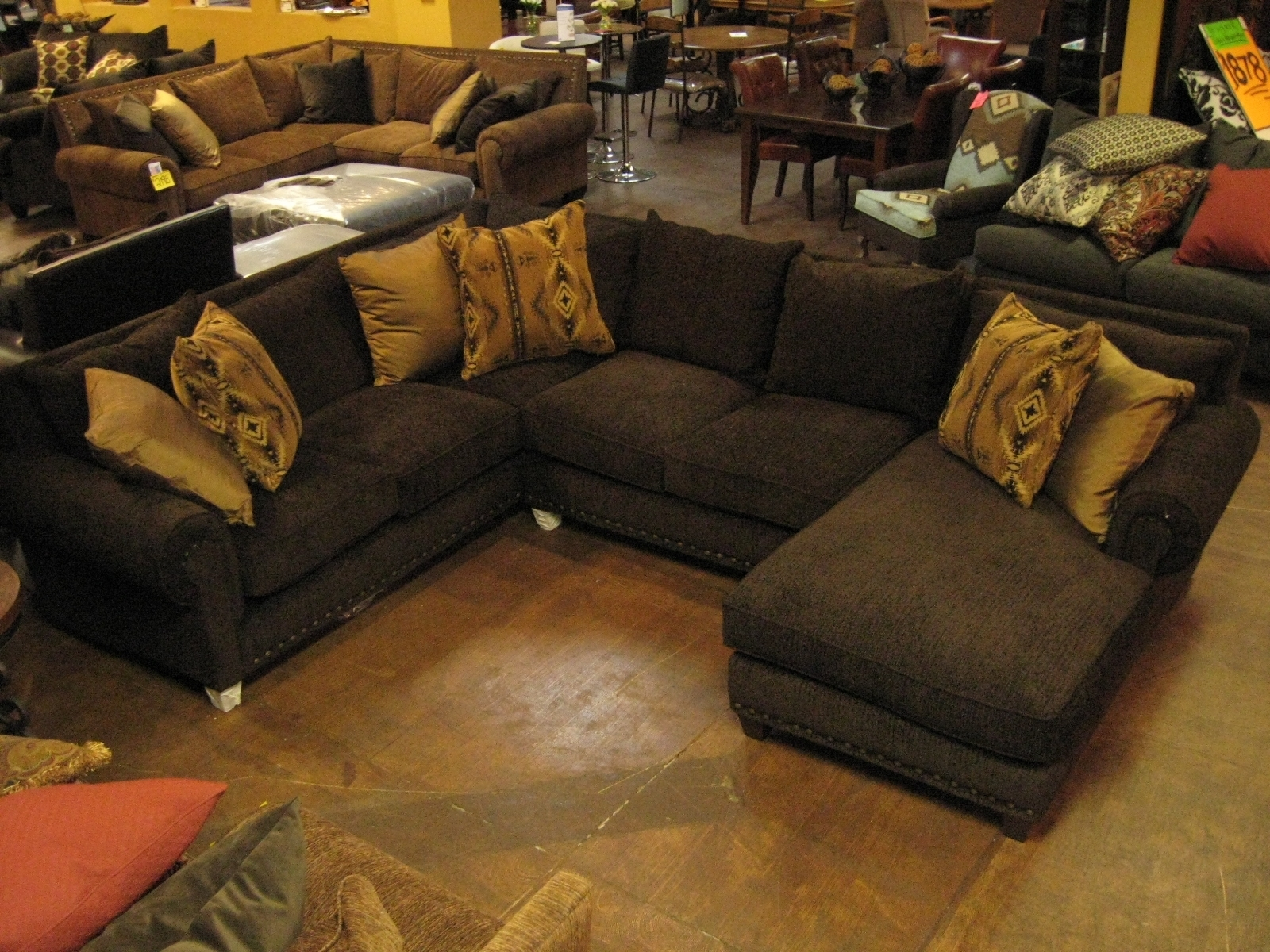 Peyton Espresso Sectional Sofa • Sectional Sofa In Denver Sectional Sofas (Image 8 of 10)