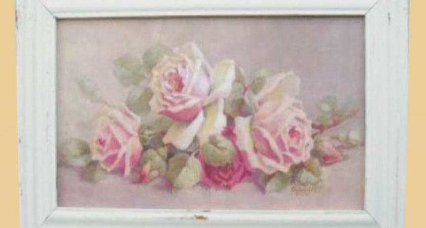 Photograph Cottage Shabby Chic Roses Typography Dream Fine Art With Regard To Shabby Chic Framed Art Prints (Image 9 of 15)