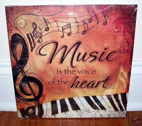 Piano Keyboard Music Is Voice Canvas 4 Your Home Interior Wall Art For Music Canvas Wall Art (Image 8 of 15)