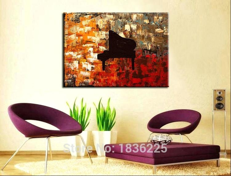 Piano Wall Art Online Shop Hand Painted Wall Art Abstract Piano With Abstract Piano Wall Art (Image 14 of 15)