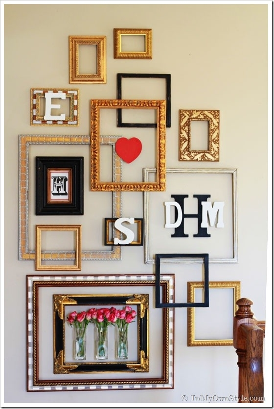 Picture Frame Gallery Wall With A Valentine Surprise | In My Own Style In Frames Wall Accents (View 5 of 15)