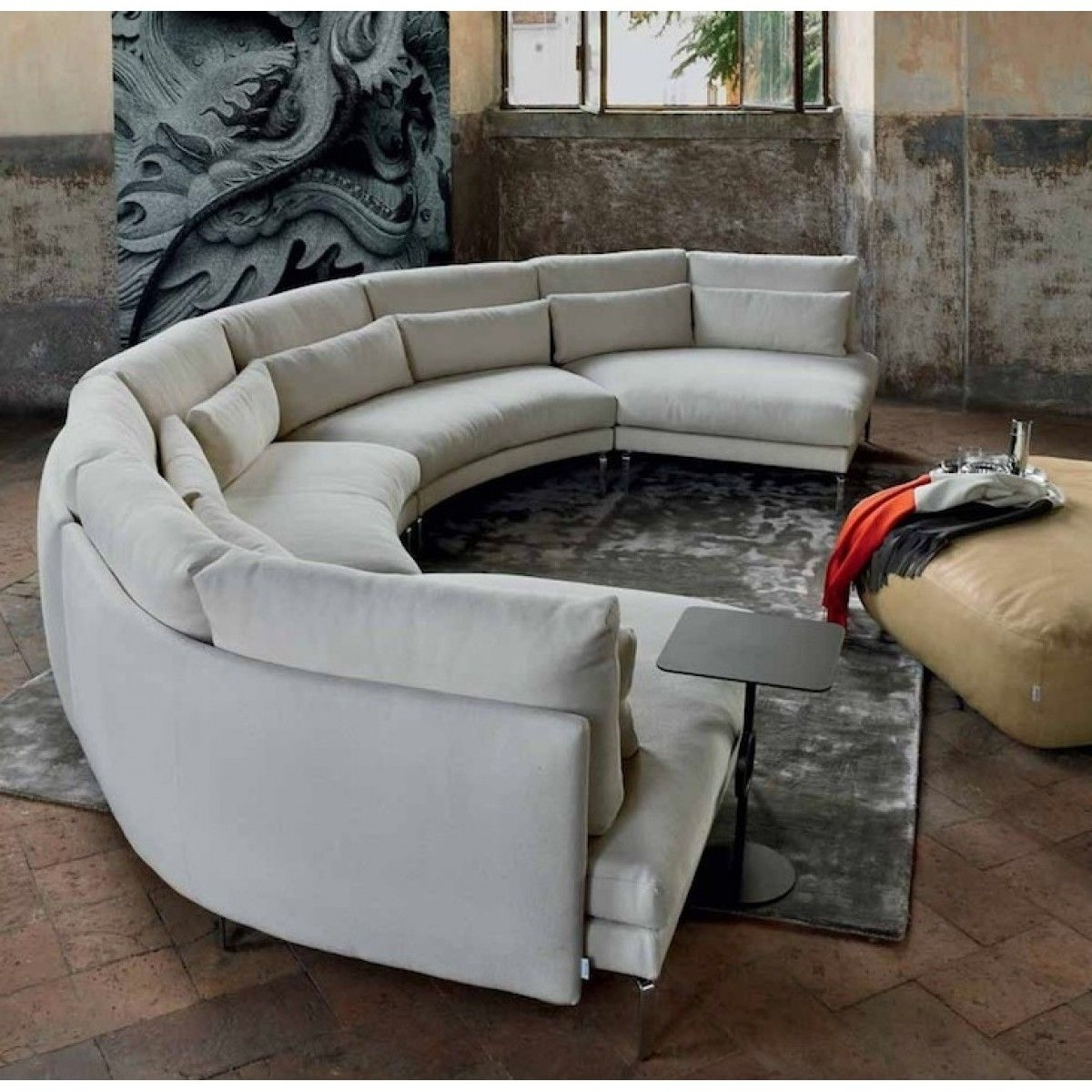 Pindaniel Harper On Decor | Pinterest | Round Couch, Comfortable With Semicircular Sofas (View 3 of 10)