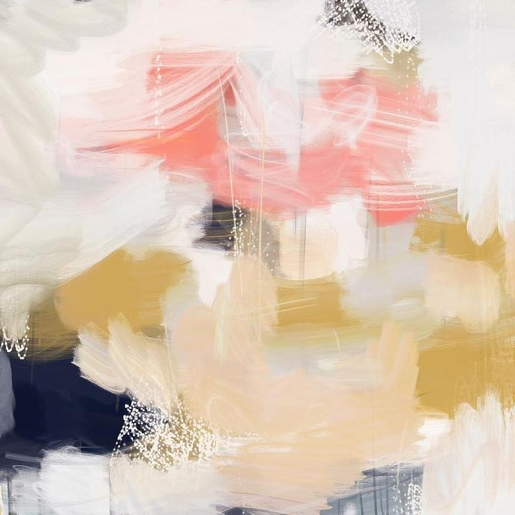 Pink And White Abstract Fine Art Print Throughout Pink Abstract Wall Art (View 5 of 15)
