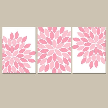 Pink Nursery Wall Art Canvas Or Prints From Trm Design | Wall Art With Girl Canvas Wall Art (Image 9 of 15)