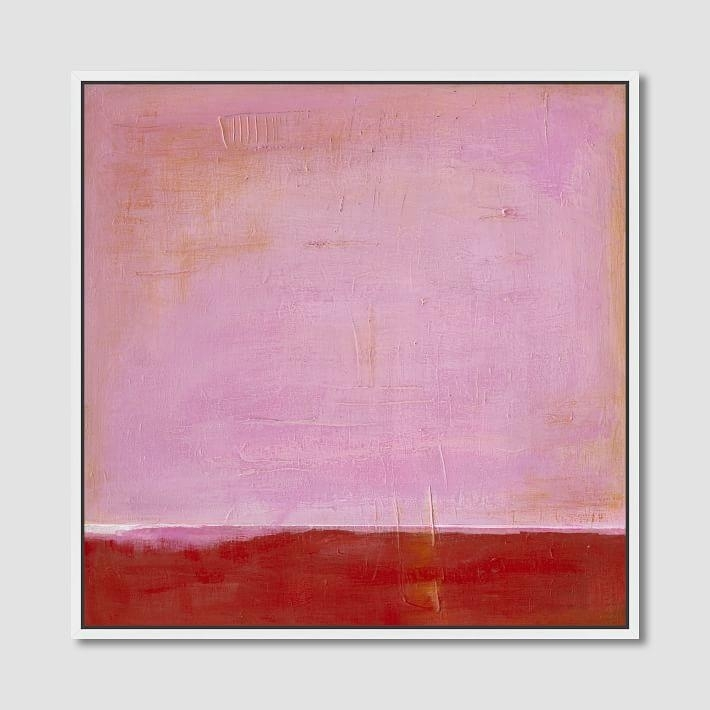Pink On Red Wall Canvas Art Throughout Pink Abstract Wall Art (View 11 of 15)