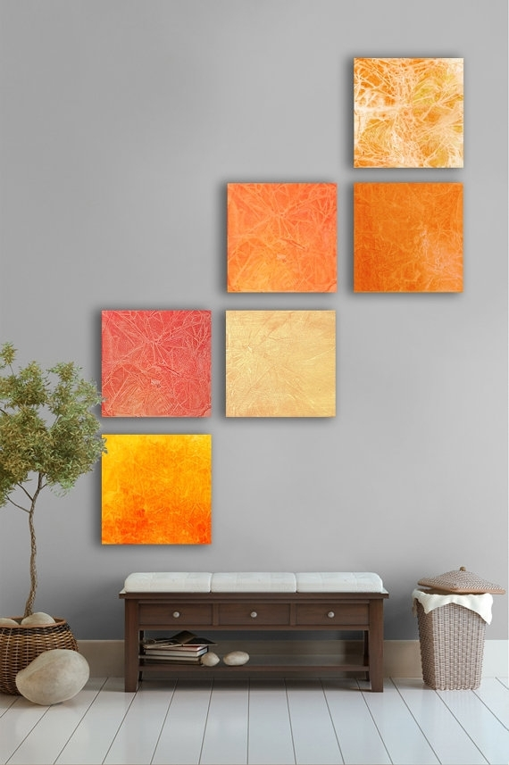 Pinkara Rodriguez On Bedroom | Pinterest | Large Abstract Wall Pertaining To Abstract Orange Wall Art (View 5 of 15)