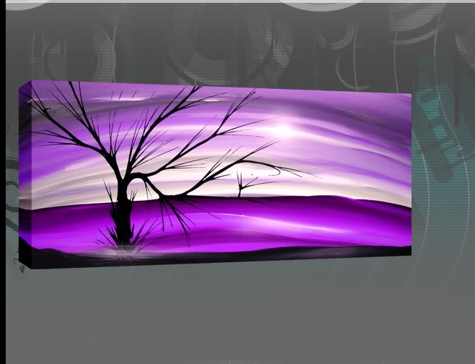 Pinrufus Dsouza On Art Picture Images | Pinterest | Canvases Intended For Purple And Grey Abstract Wall Art (Image 6 of 15)