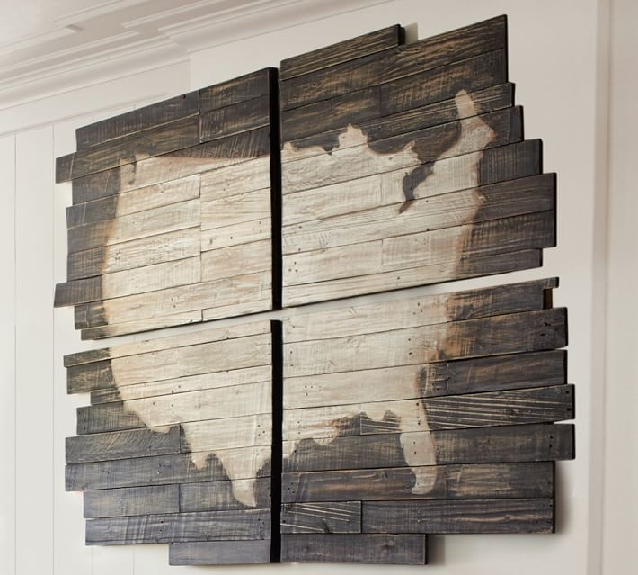 Planked Usa Wall Art Panels | Pottery Barn With Regard To Wood Paneling Wall Accents (Image 10 of 15)