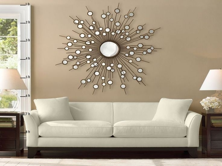 Pleasant Wall Decor Mirror Sets Home Accents Mirrors Art Stickers Regarding Custom Wall Accents (Image 12 of 15)