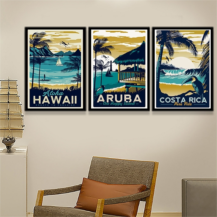 Popular Hawaii Decor For Rooms Buy Cheap Hawaii Decor For Rooms Intended For Hawaii Canvas Wall Art (Image 11 of 15)