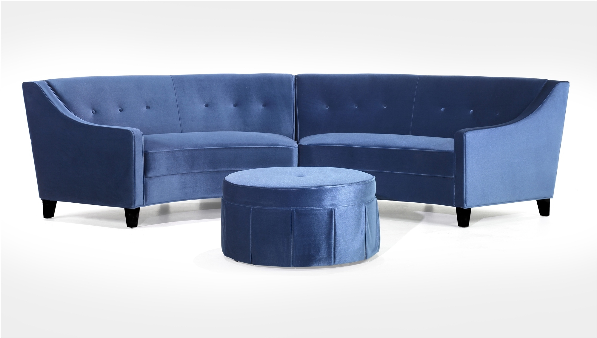 Popular Small Round Sectional Sofa 49 In Sleek Sectional Sofas With For Sleek Sectional Sofas (View 8 of 10)