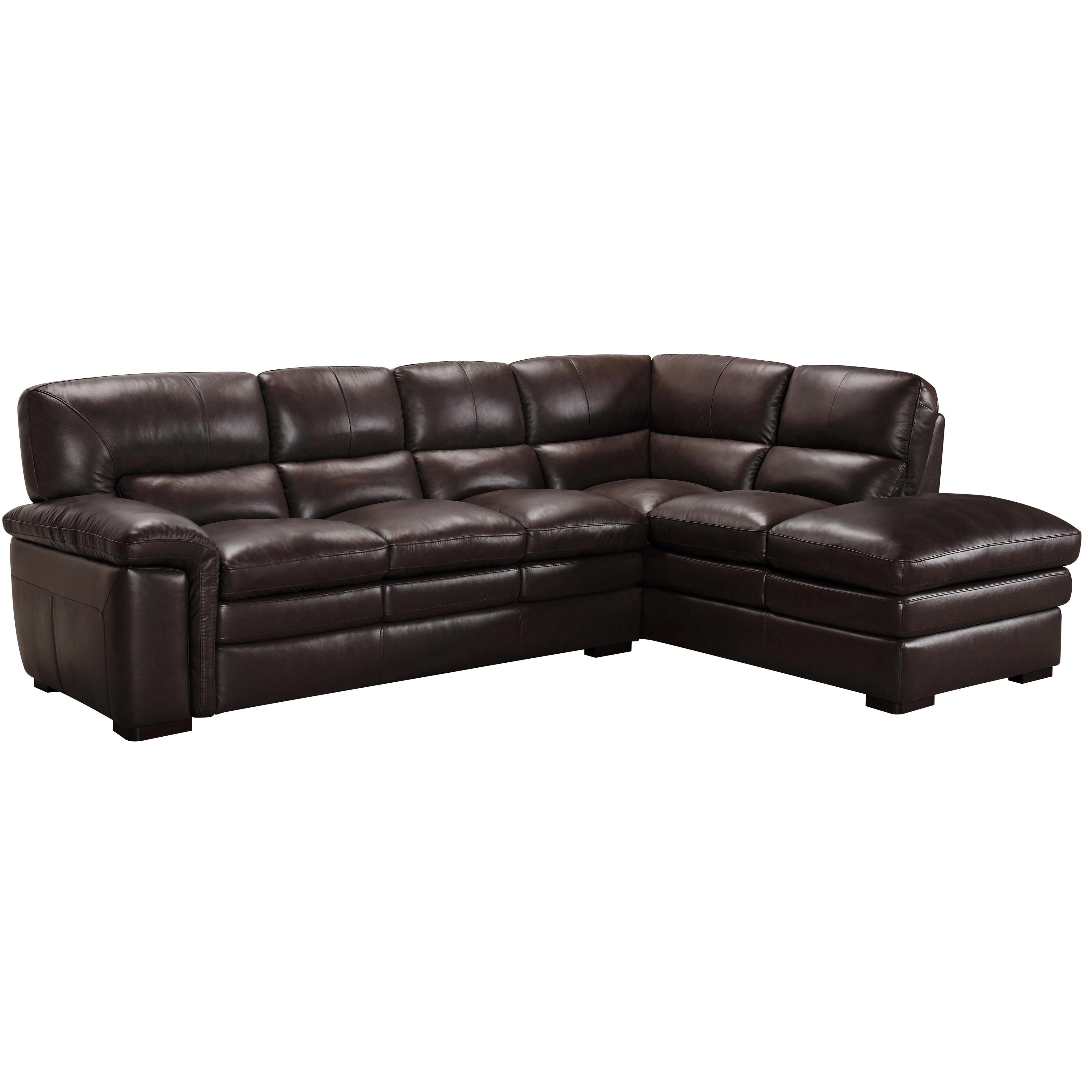 Portland Premium Top Grain Brown Leather Sectional Sofa – Free Within Portland Or Sectional Sofas (Image 4 of 10)
