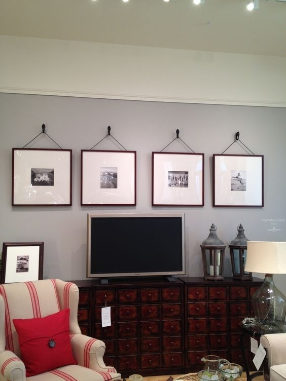 Pottery Barn Oversized Picture Frames Maybe Over The Tv In The For Wall Accents With Tv (View 13 of 15)