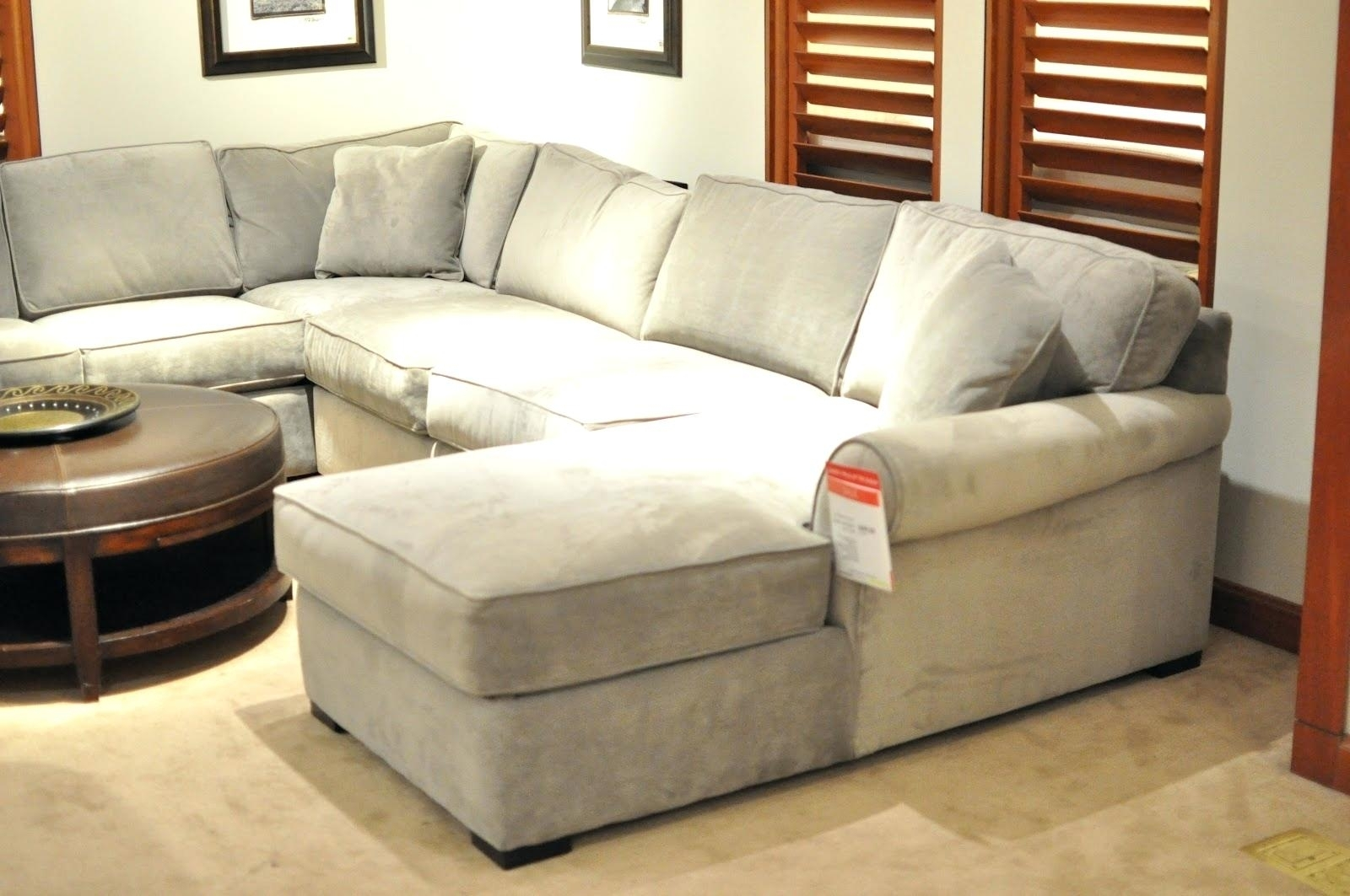 Pottery Barn Sectional Sofas Sofa Covers Turner Leather Reviews Regarding Pottery Barn Sectional Sofas (Image 7 of 10)