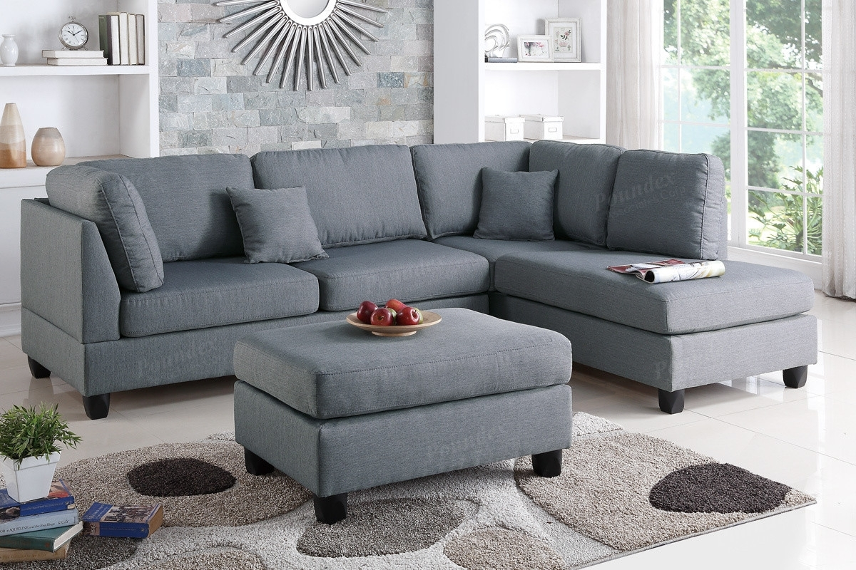 Poundex 3 Pcs Sectional Sofa Set F7606Description :experience Within Grande Prairie Ab Sectional Sofas (Image 9 of 10)