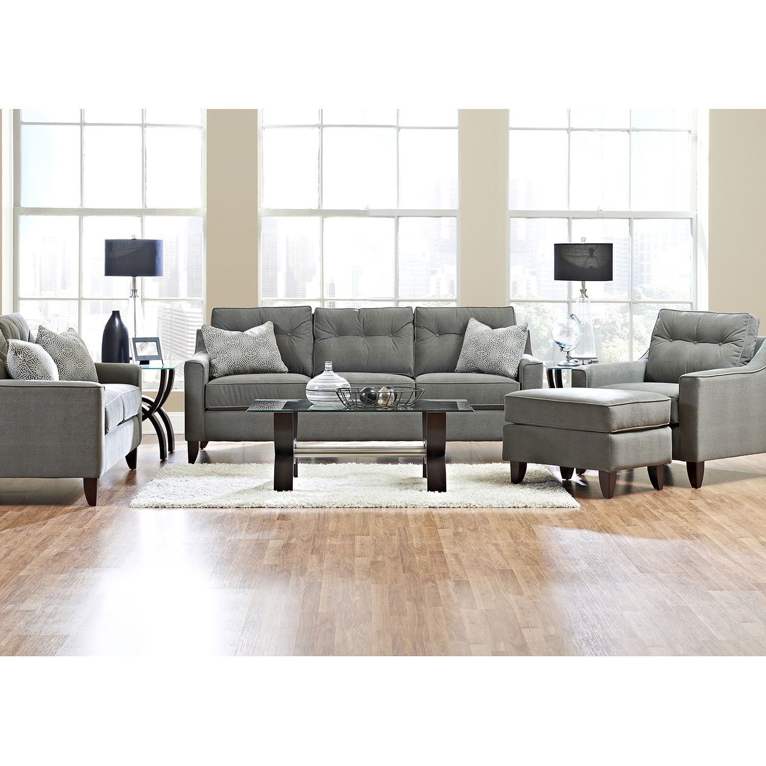 Prestige Aaron Sofa, Loveseat, Chair And Ottoman Collection – Boutiqify In Sectional Sofas At Aarons (View 10 of 10)