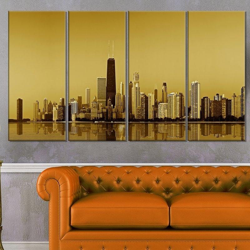 Pretty Chicago Wall Art Contemporary – Wall Art Design Regarding Gold Coast Canvas Wall Art (View 9 of 15)