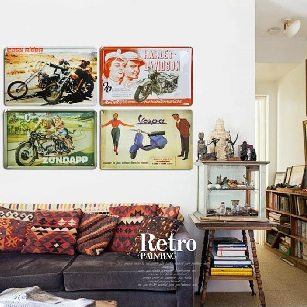 Pretty Design Retro Wall Decor With Art Etsy – Decoration With Regard To Vintage Wall Accents (View 12 of 15)