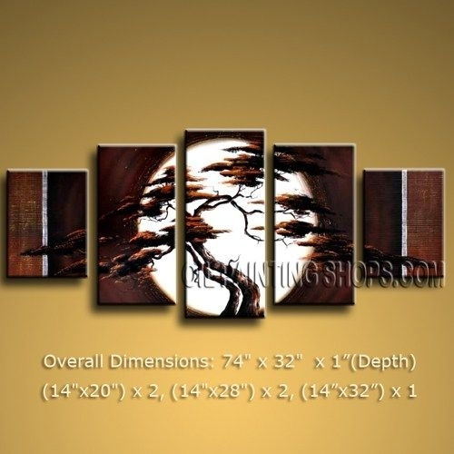 Primitive Huge Multiple Panels Canvas Wall Art Contemporary With Next Canvas Wall Art (View 8 of 15)