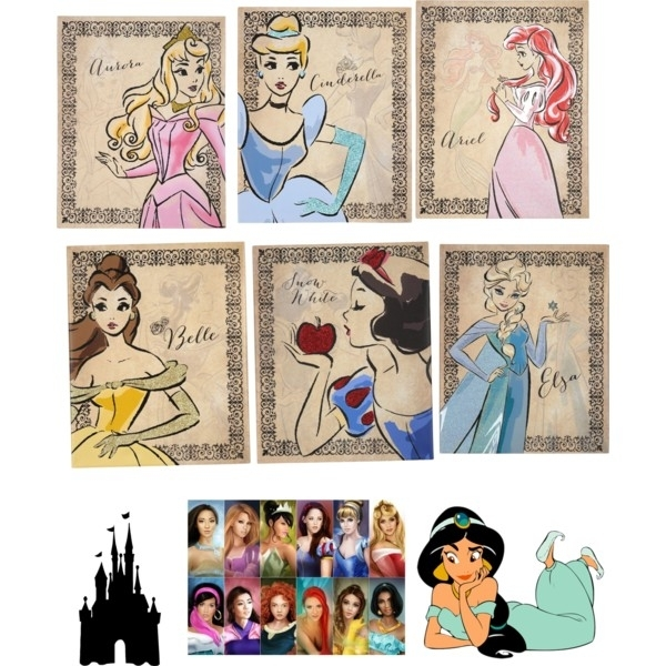 Princess Of Disney – Polyvore Intended For Elsa Canvas Wall Art (Image 15 of 15)