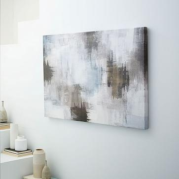 Print Abstract Smudges With Gray Abstract Wall Art (View 13 of 17)