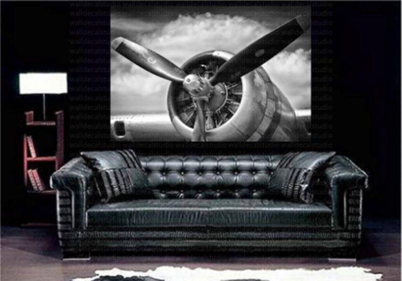 Print Plus Retro Aircraft Plane Propeller Canvas Wall Decor In Retro Canvas Wall Art (View 10 of 15)