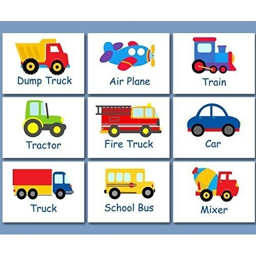 Printable Transportation Nursery Art, Instant Download Digital For Cars Theme Canvas Wall Art (View 13 of 16)