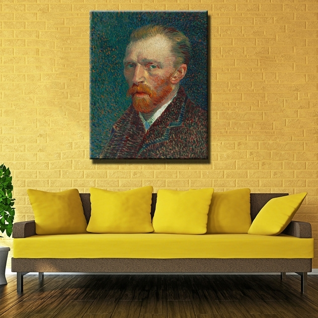 Printed Masters Vincent Van Gogh Portrait Prints Reputation Oil Inside Masters Canvas Wall Art (View 3 of 15)