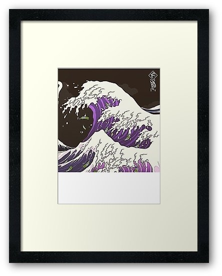 "Promethazine Codeine Lean Wave Asian Art"" Framed Prints With Framed Asian Art Prints (Image 14 of 15)"