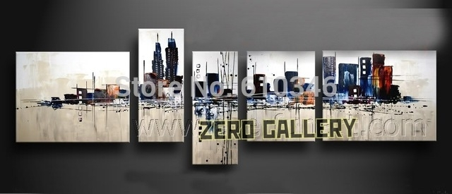 Promote Handwork Modern Abstract Melbourne New York Pari Cityscape In Melbourne Abstract Wall Art (View 5 of 15)