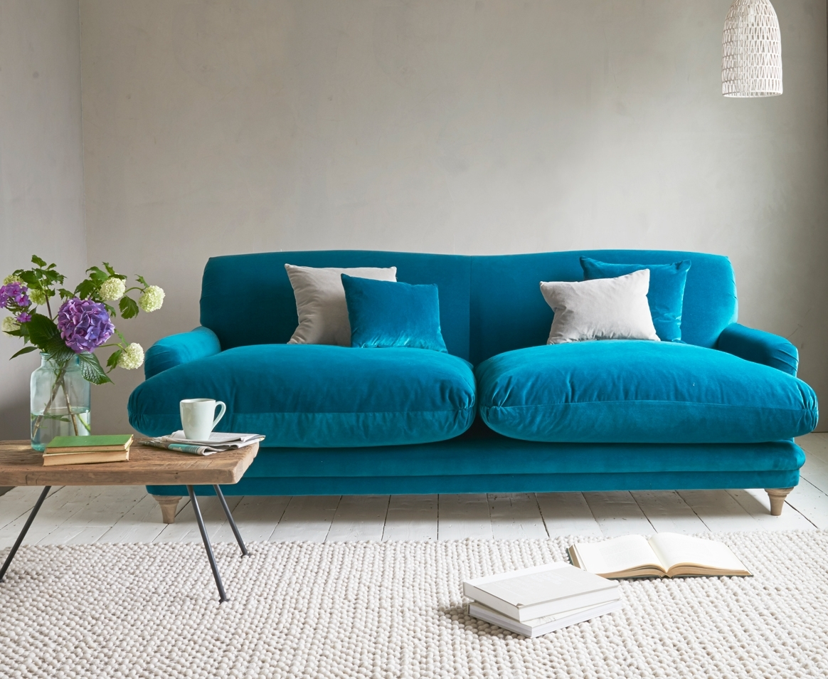 Pudding Sofa | Traditional Style Sofa | Loaf With Turquoise Sofas (Image 5 of 10)