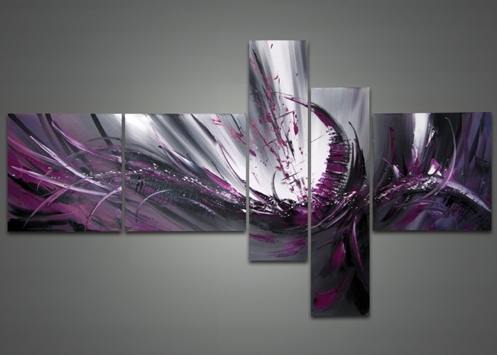 Purple Abstract Canvas Painting Fabu Art – Dma Homes | #87061 Pertaining To Purple And Grey Abstract Wall Art (Image 9 of 15)
