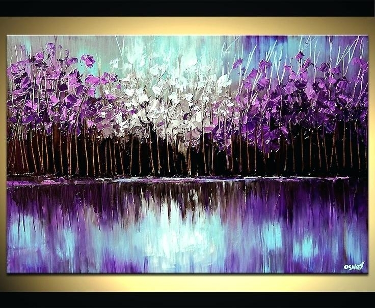 Purple And Blue Wall Art Purple Blue Pink 3 Piece Wall Decor With Purple And Grey Abstract Wall Art (Image 10 of 15)
