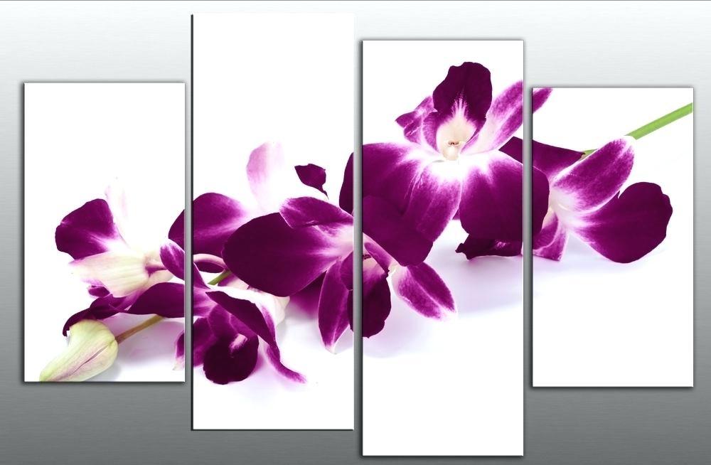 Purple Floral Canvas Wall Art – Bestonline Within Purple Flowers Canvas Wall Art (Image 10 of 15)