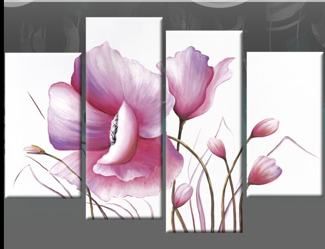 Purple Lilac Floral Water Colour Flower Head 30X20 Canvas Flower In Lilac Canvas Wall Art (View 10 of 15)