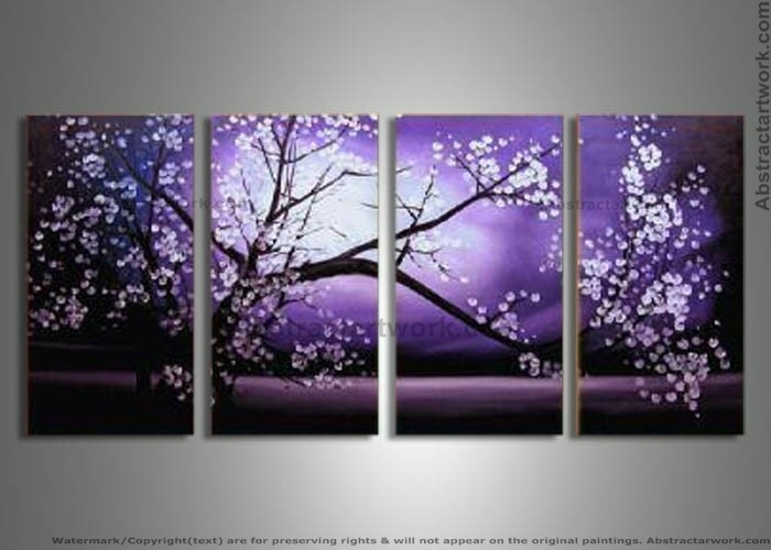 Purple Modern Art | Piece Purple Modern Decorative Oil Painting On Throughout Canvas Wall Art In Purple (View 12 of 15)