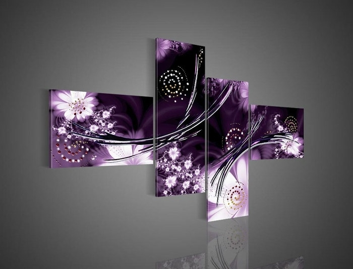 Purple Pictures Plum Coloured Wall Art Lavender Bedroom Walls Throughout Purple And Grey Abstract Wall Art (Image 12 of 15)