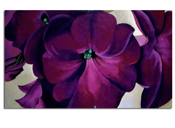 Purple Trumpet Flower Head Canvas Wall Art Picture Print 34X20 52X87Cm With Regard To Purple Flowers Canvas Wall Art (Image 11 of 15)