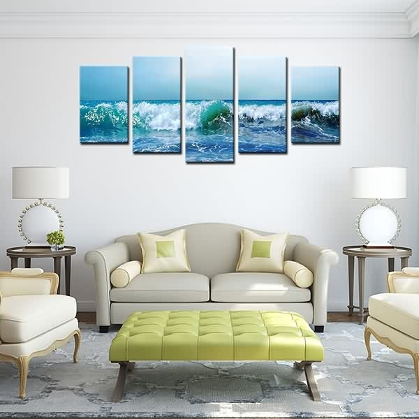Quality Inspection For Hd Canvas Painting Print Landscape Blue Sea Pertaining To Leadgate Canvas Wall Art (View 15 of 15)