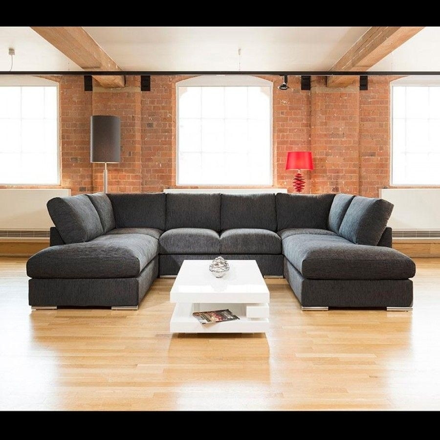 Quatropi Large Sofa Set Settee Corner Group U Shape Black 3.3 X  (Image 9 of 10)