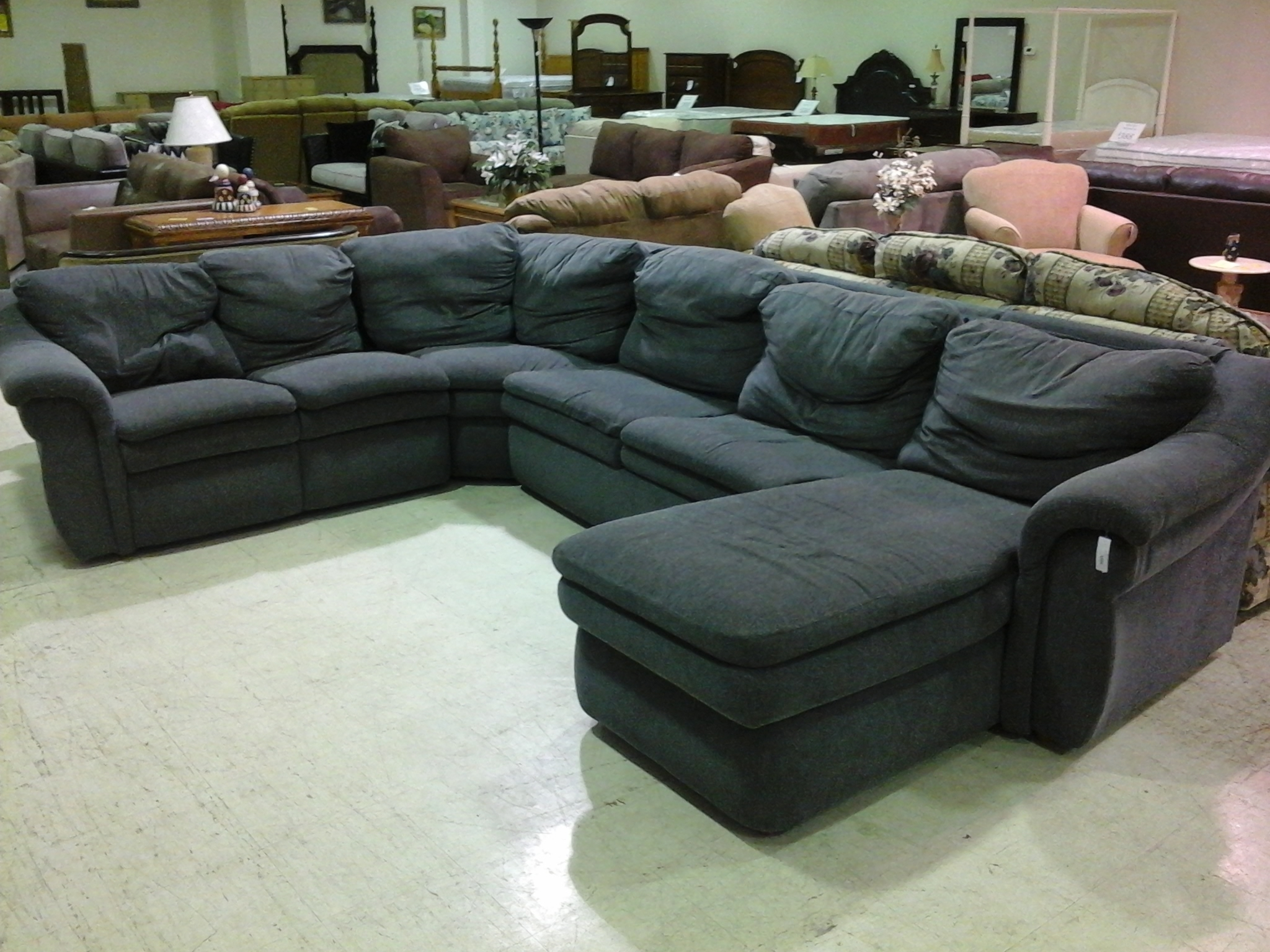 Queen Sofa Sleeper Sectional Microfiber – Cleanupflorida Inside Sleek Sectional Sofas (Image 10 of 10)
